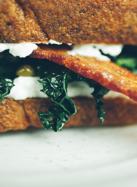 Bacon, Kale and Ricotta Sandwich